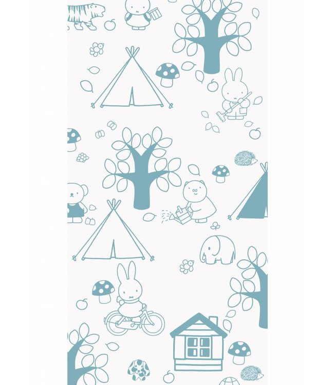 Miffy tapete Outdoor Fun, Blau, 97.4 x 280 cm