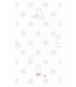 Miffy wallpaper Flowers, Pink