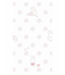 Nijntje behang Flowers, Roze