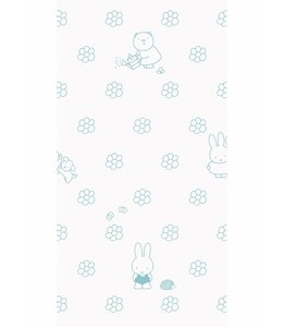Dick Bruna Miffy wallpaper Flowers, Mint
