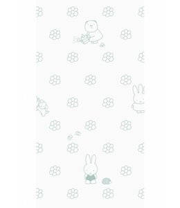 Dick Bruna Miffy tapete Flowers, Grün