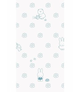 Miffy tapete Flowers, Blau
