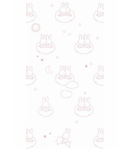 Miffy wallpaper Clouds, Pink