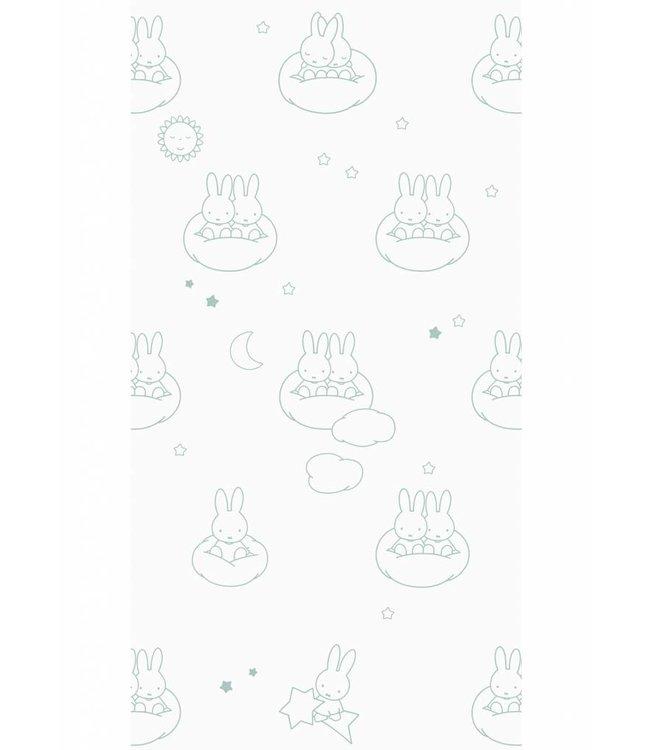 Miffy tapete Clouds, Grün, 97.4 x 280 cm