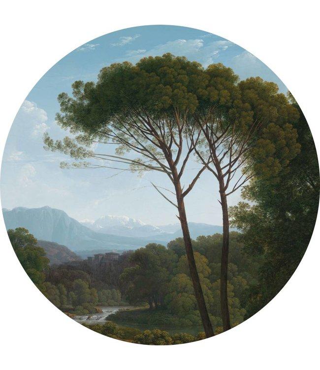 Tapetenpaneel rund Golden Age Landscape, ø 190 cm