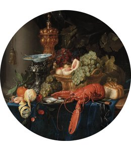 Tapetenpaneel rund Lobster