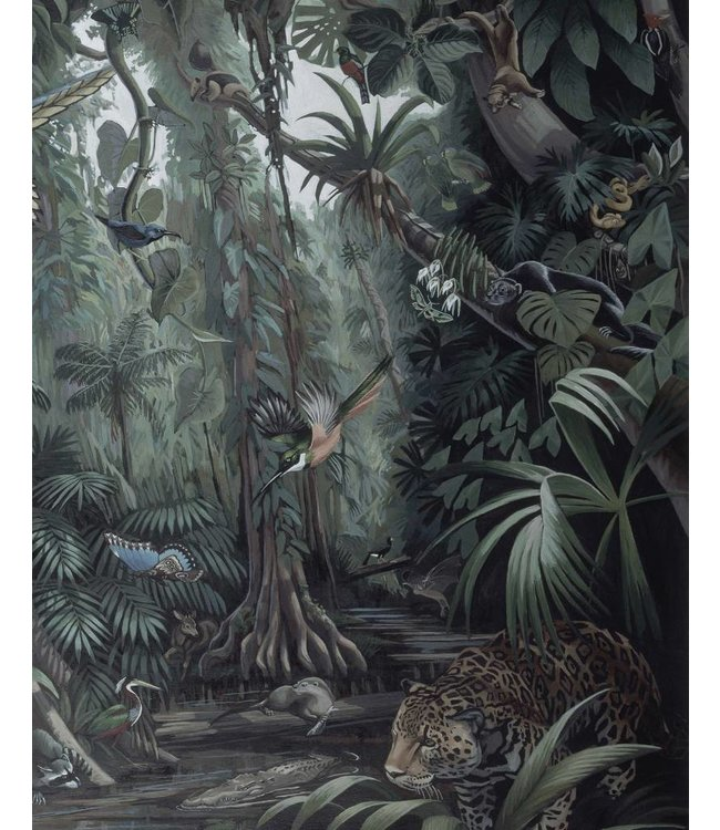 Behangpaneel Tropical Landscape, 142.5 x 180 cm