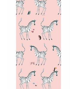 Fiep Westendorp Wallpaper Zebra, Pink