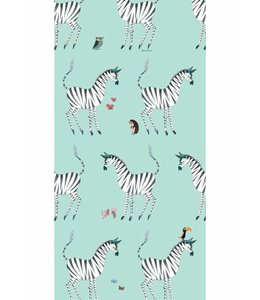 Behang Zebra, Mint