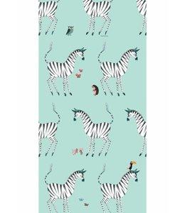Fiep Westendorp Wallpaper Zebra, Mint
