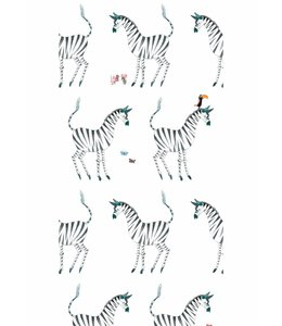 Fiep Westendorp Wallpaper Zebra, White