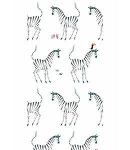 Tapete Zebra, Weiß