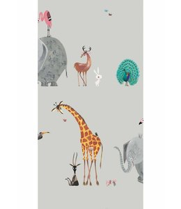 Wallpaper Animal Mix, Grey