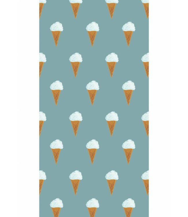 Wallpaper for kids Ice cream, Petrol, 97.4 x 280 cm
