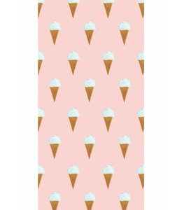 Wallpaper Ice cream, Pink