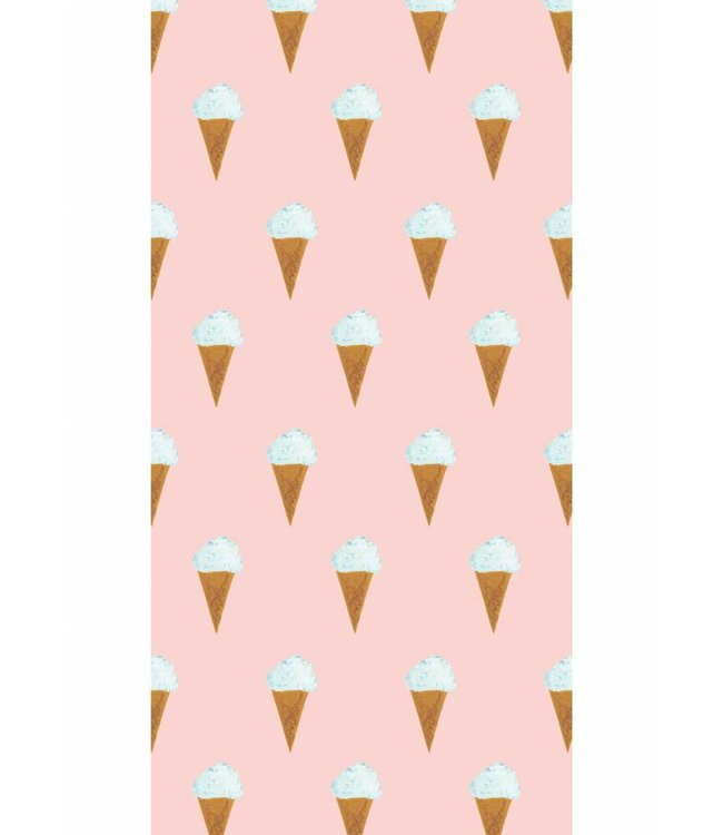 Wallpaper for kids Ice cream, Pink, 97.4 x 280 cm