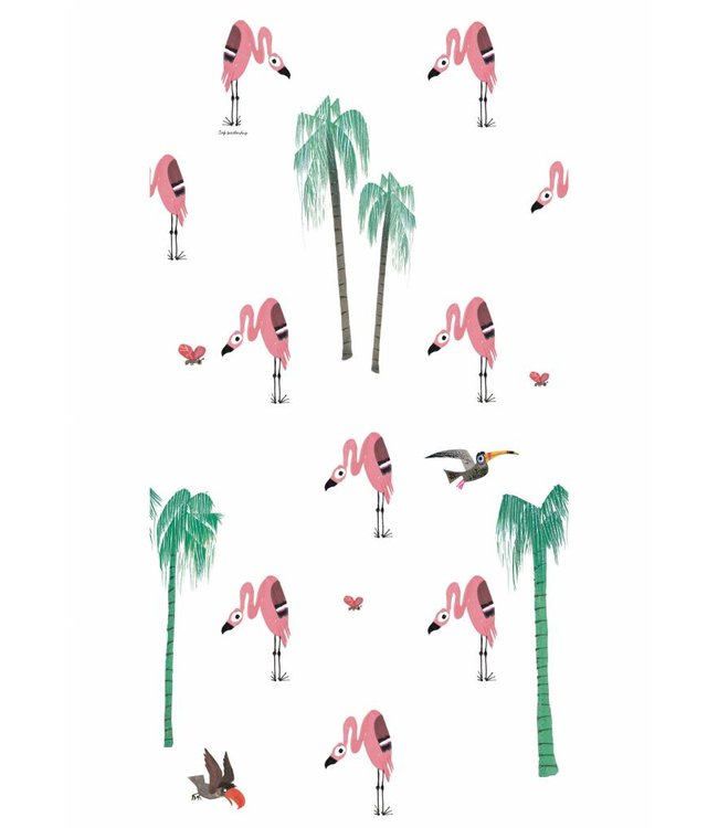 Fiep Westendorp behang Flamingo, 97.4 x 280 cm