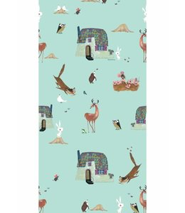 Wallpaper Forest Animals, Mint