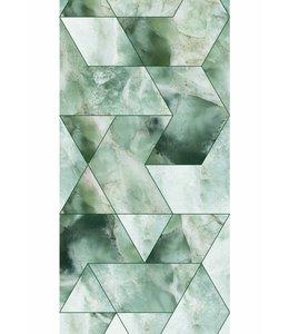 Behang Marmer Mosaic, groen