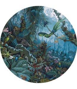 Tapetenpaneel rund Tropical Landscape