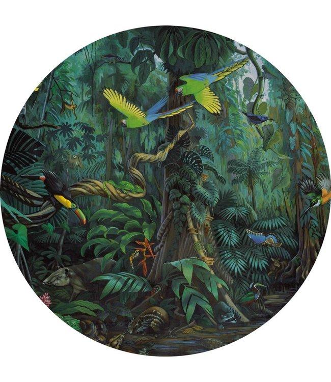 Tapetenpaneel rund Tropical Landscape, ø 190 cm