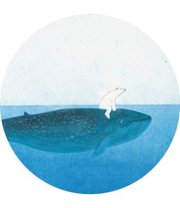 Behangcirkel Riding the Whale