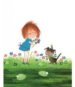 Behangpaneel Picking Flowers