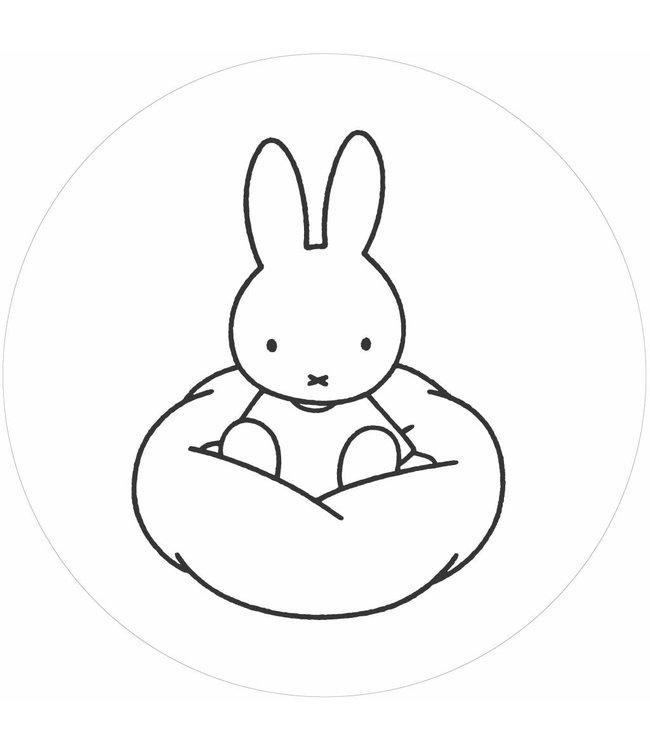 Tapetenpaneel rund Miffy Cloud, ø 190 cm