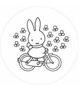 Tapetenpaneel rund Miffy Riding Bike