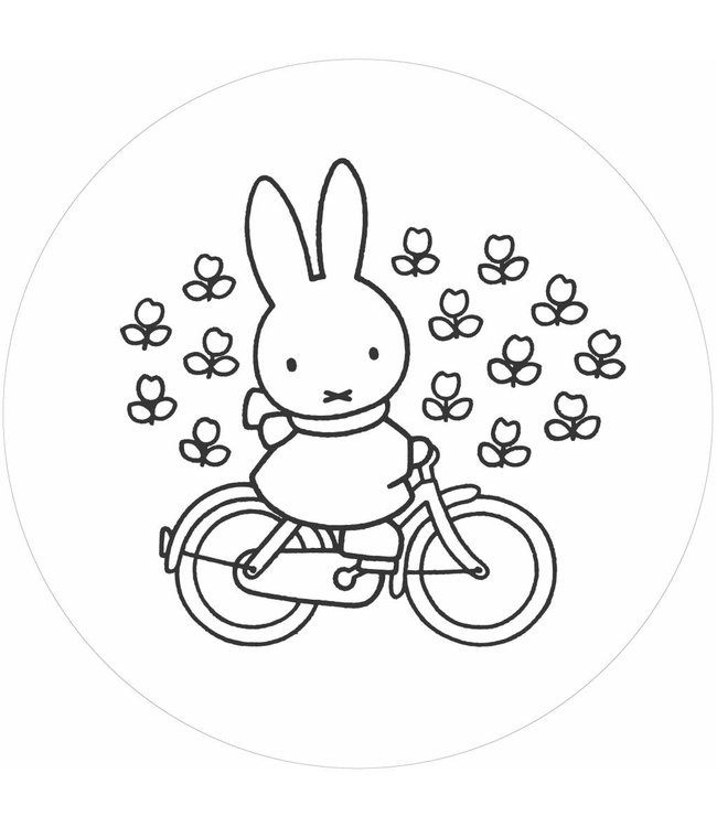 Wallpaper Circle Miffy Riding Bike, ø 190 cm