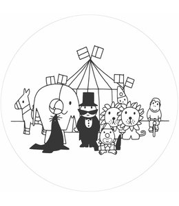 Behangcirkel Dick Bruna Circus