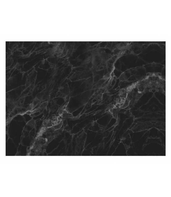 Wall Mural Marble, Black-Grey, 389.6 x 280 cm