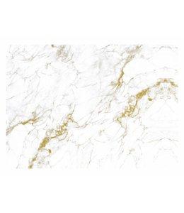 Fototapete Marble, Weiß-Gold
