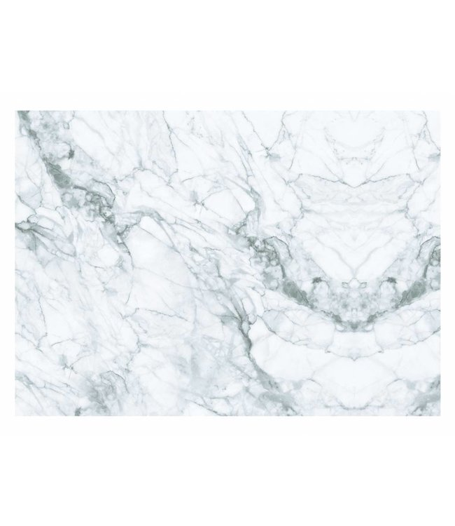 Wall Mural Marble, White-Grey, 389.6 x 280 cm