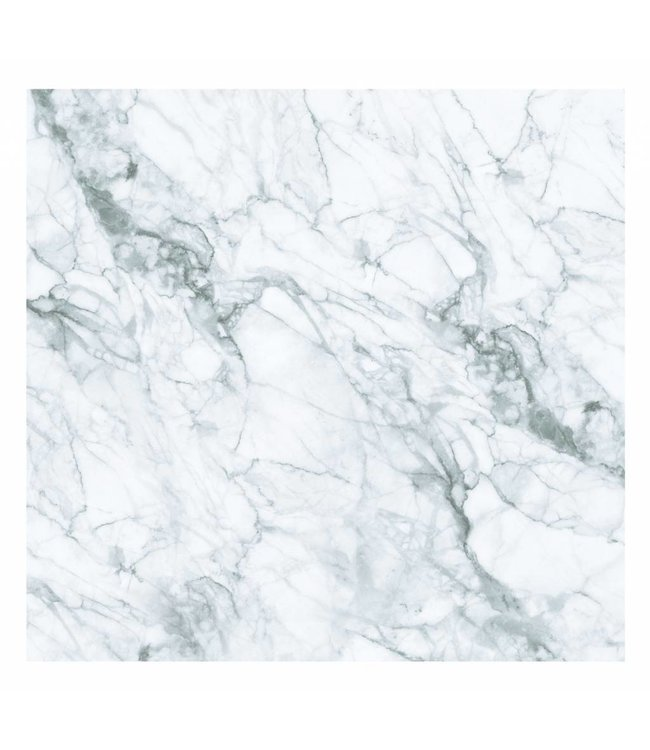 Wall Mural Marble, White-Grey, 292.2 x 280 cm