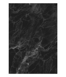 Wall Mural Marble, Black-Grey