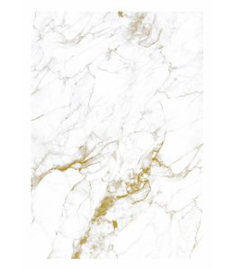 Wall Mural Marble, White-Gold