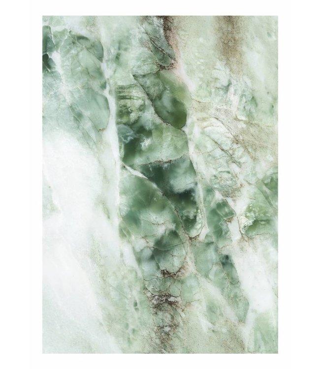 Fotobehang Marble, Groen, 194.8 x 280 cm