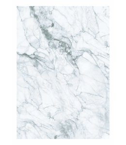 Wall Mural Marble, White-Grey