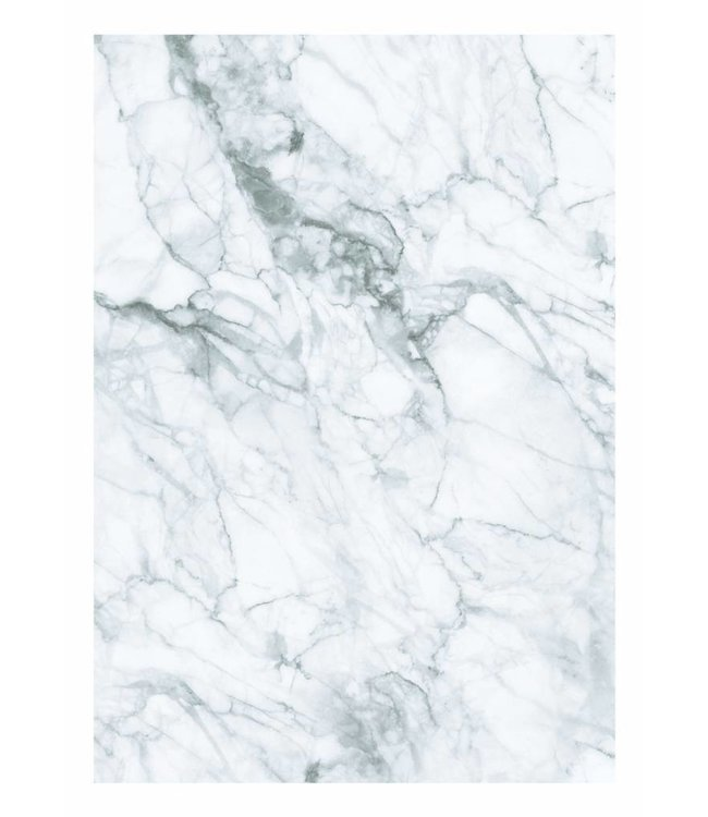 Wall Mural Marble, White-Grey, 194.8 x 280 cm