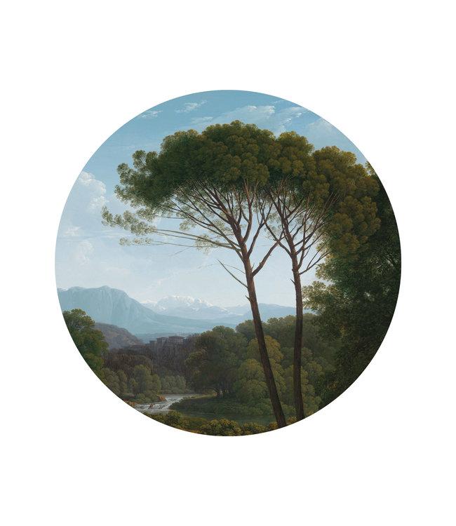 Tapetenpaneel rund Golden Age Landscape, ø 142.5 cm