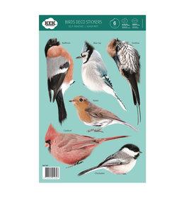 Set muurstickers van verschillende vogels
