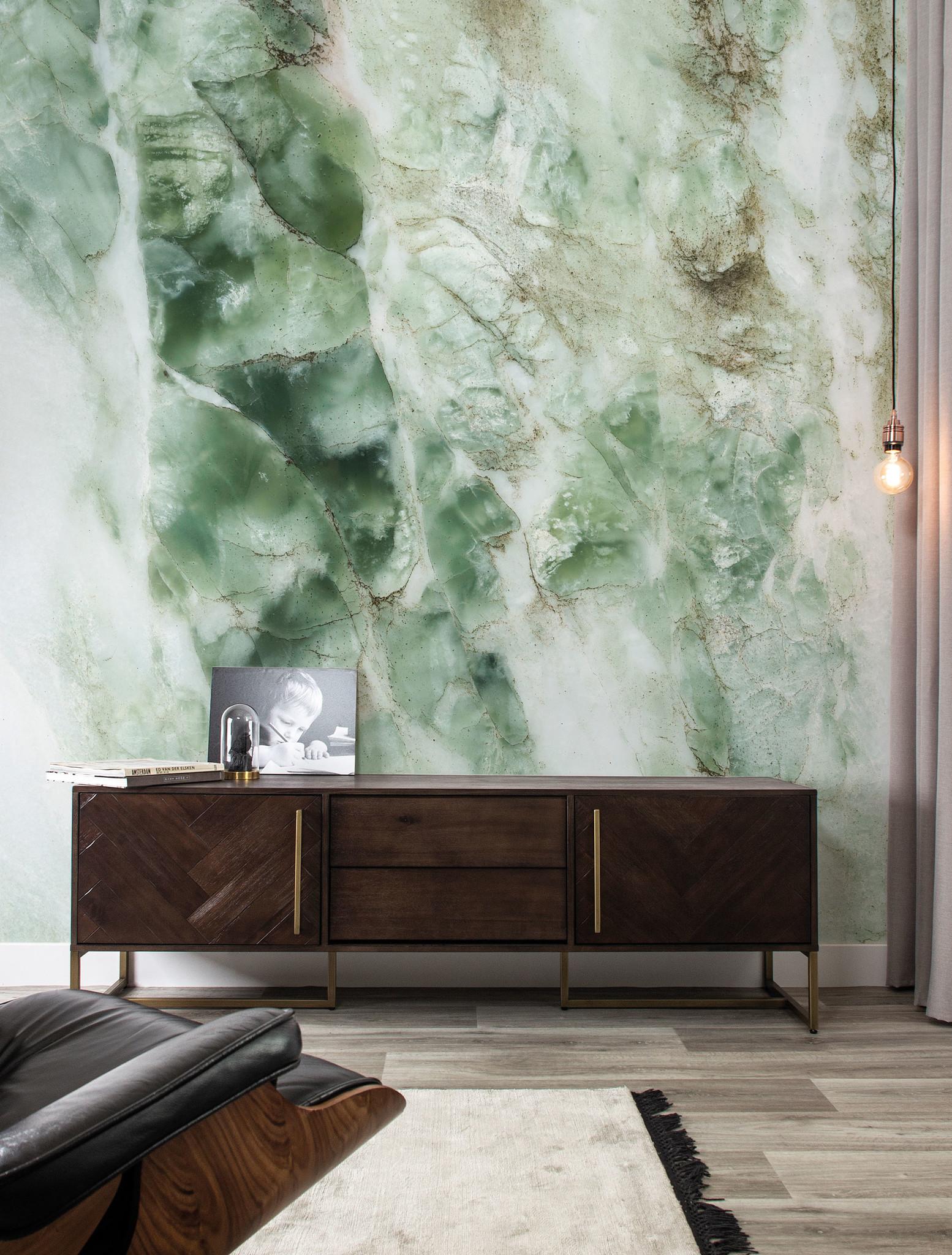 Wall Mural Marble Green 194 8 X 280 Cm Kek Amsterdam