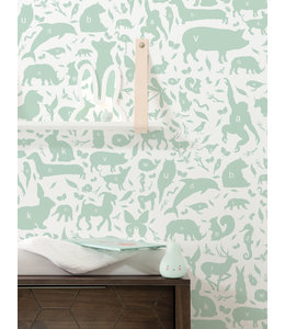 Behang ABC Animals, Groen