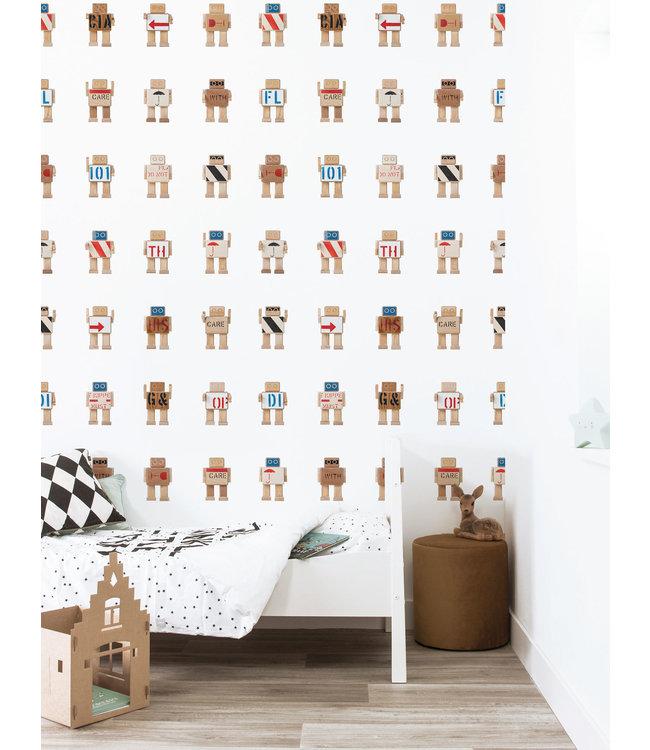 Tapete für Kinderzimmer Rijkswachters Big, Weiß