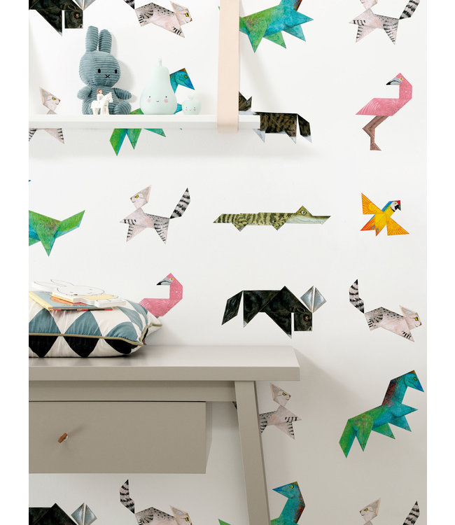 Wallpaper for kids Tangram Animals