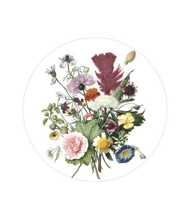 Behangcirkel Wild Flowers, ø 142.5 cm