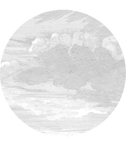 Tapetenpaneel rund Engraved Clouds