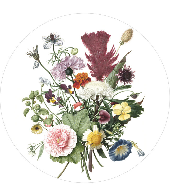 Wallpaper Circle Wild Flowers, ø 190 cm