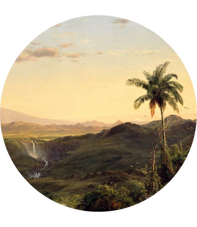 Tapetenpaneel rund Golden Age Landscapes, ø 190 cm